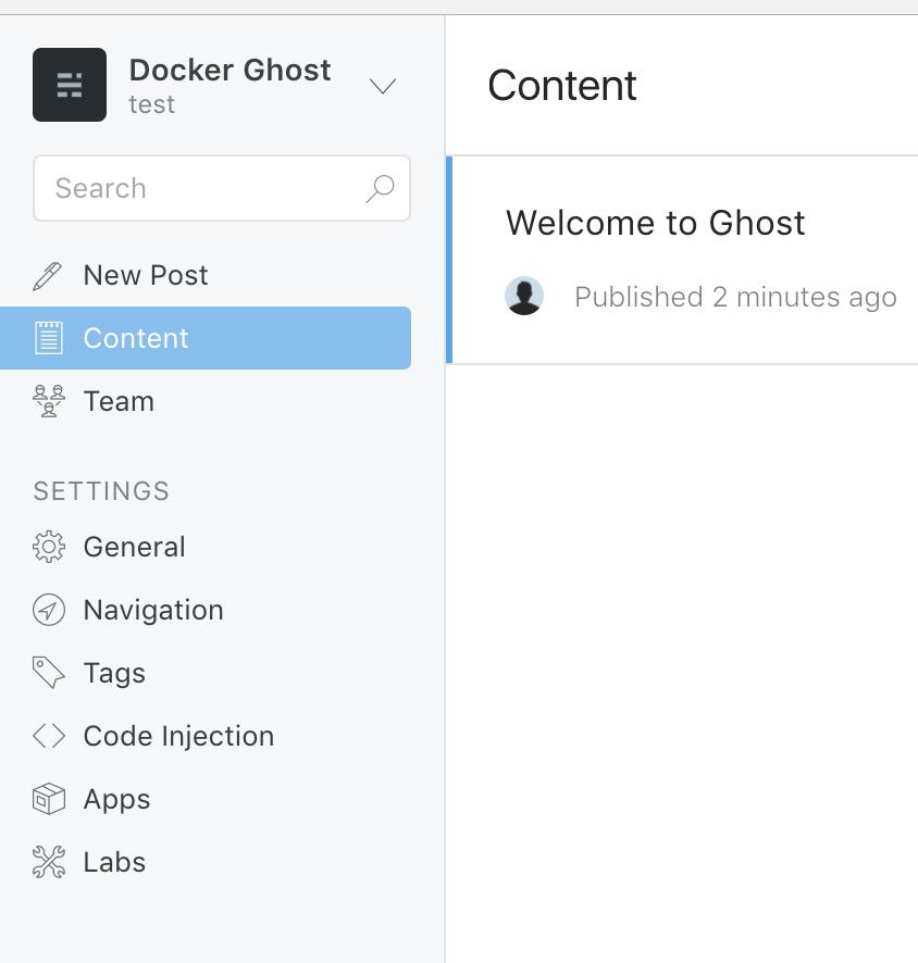 Ghost Admin Panel